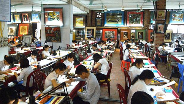 ベトナムの福祉工房の様子