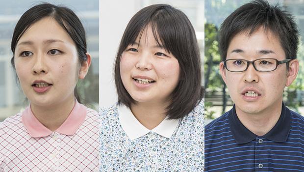 左から、北浦さん、勇上さん、川見さん