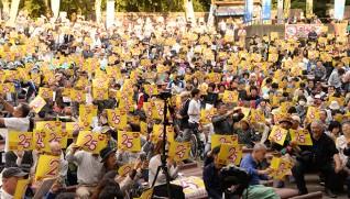 日比谷野外音楽堂に約4000人が集まった