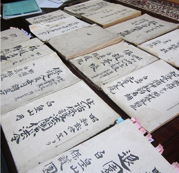光西寺に残る大正、昭和期の資料