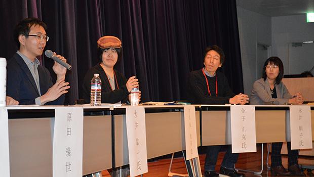 「仲間に救われた」と話す永井さん(左端)